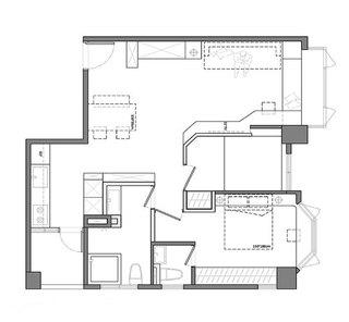 两室两厅两卫房子装修设计图