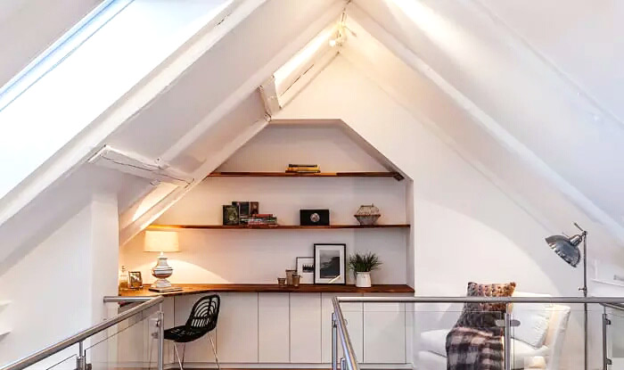 60平单身公寓阁楼书房装修