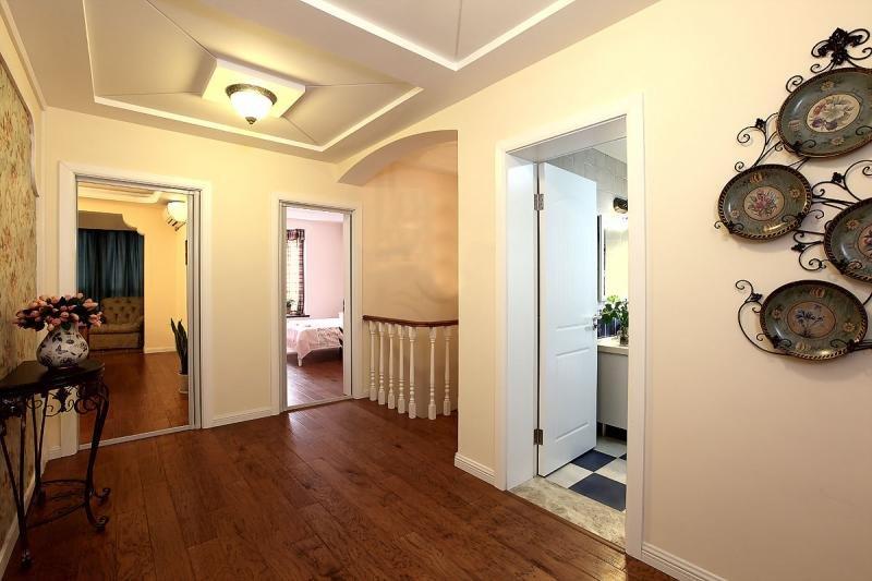 田园风格实木走廊装修效果图