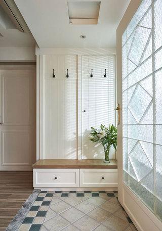 浪漫优雅美式白色玄关装修效果图