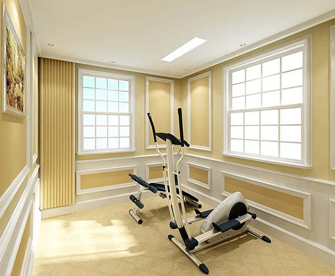 美式健身房图片_齐家网装修效果图图片
