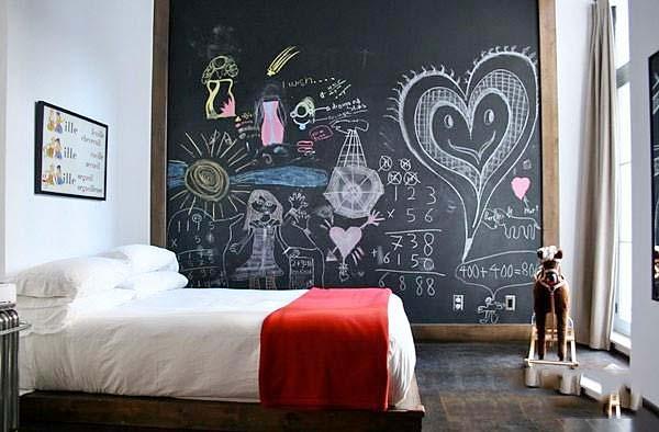 卧室黑板墙
