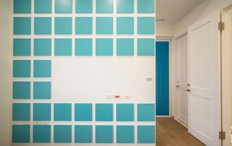 地中海蓝白色浪漫走廊装修效果图