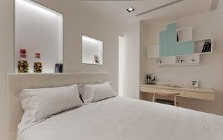 简约风格米白色清新卧室装修效果图