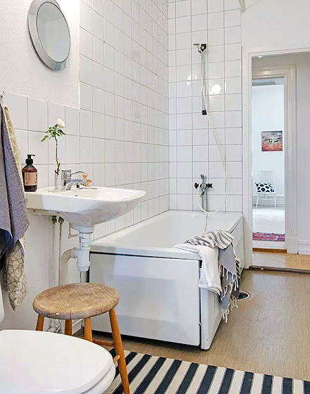 90平米二居室卫生间浴缸图片