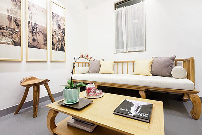 中式风格超小户型沙发背景墙装修效果图