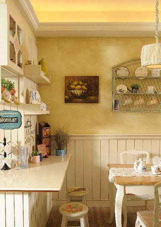 温馨法式乡村风餐厅收纳设计装修