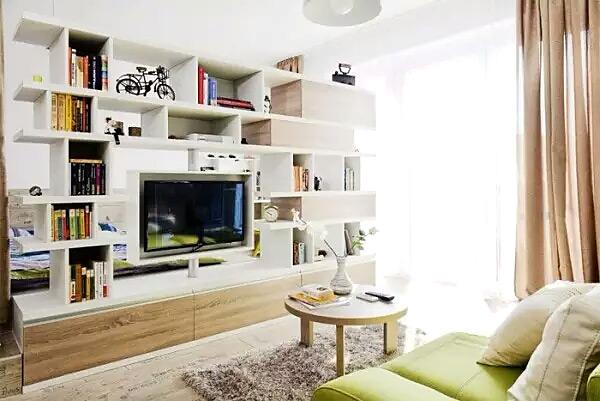 木质小户型客厅电视柜装修