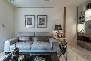 现代简约灰色客厅沙发装修效果图