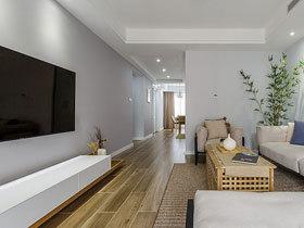 当北欧遇上日式 80平米两居室装修