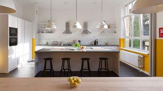 现代简约清新厨房装修效果图