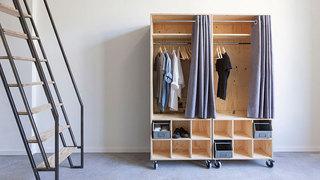 现代简约学生宿舍小衣柜装修效果图