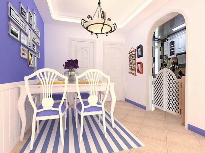 紫色系餐厅图片