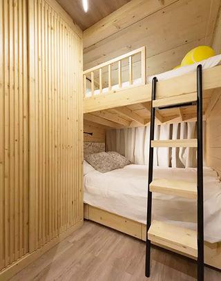 原木宜家风 上下铺卧室设计