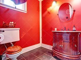 沸腾的心情   10款红色系卫生间设计布置图片