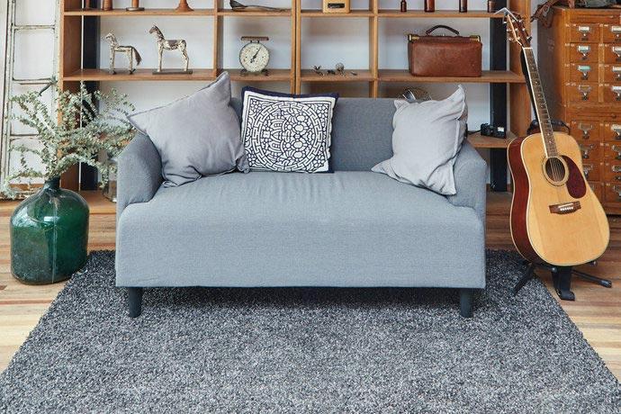文艺田园风客厅 灰色布艺沙发设计