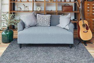 现代田园风格灰色客厅沙发装修效果图