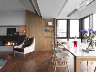 现代简约客厅餐厅吊顶装修效果图