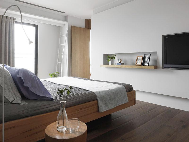 现代简约大方卧室电视背景墙装修效果图