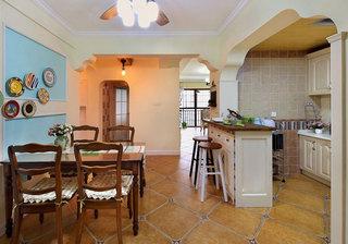 地中海浪漫开放式厨房装修效果图