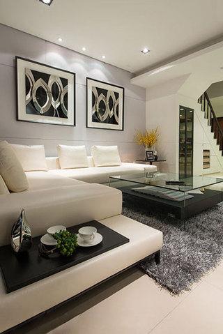 现代简约时尚米色沙发装修效果图