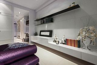 现代简约卧室背景墙装修效果图