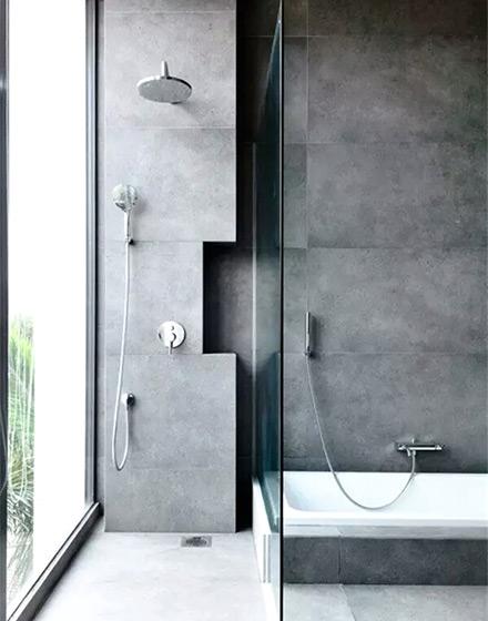 质感工业风格卫生间装饰图