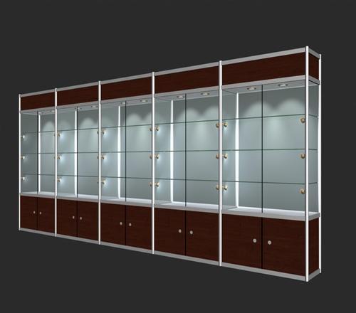 齐家百科 家具百科 客厅家具 玻璃展柜  4玻璃展柜尺寸 一般商场高背图片