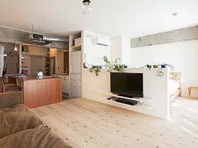 温馨宜家日式 一居室公寓效果图