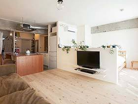 开放式空间设计  这套一居室日式公寓很特别