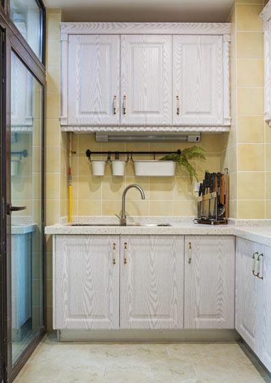 简约美式厨房 橡木橱柜设计