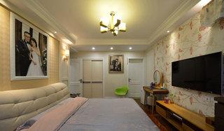 120平米简约风格主卧室效果图
