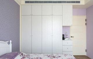 140平米浪漫紫色卧室装修图