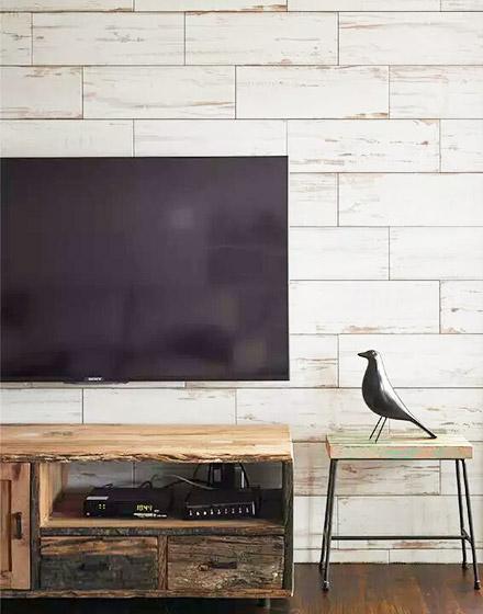99平小复式木质电视背景墙