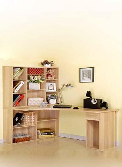 木色转角书桌装饰图片大全