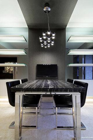 170平大户型灰色餐厅吊顶设计效果图