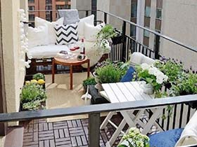 给我一点绿 10款景观阳台装修效果图