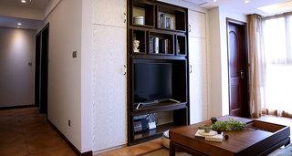 89㎡东南亚风格电视背景墙效果图