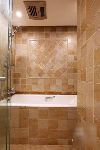 温馨东南亚风情浴室效果图