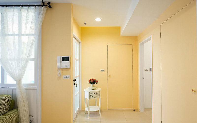 暖黄色简美式背景墙效果图