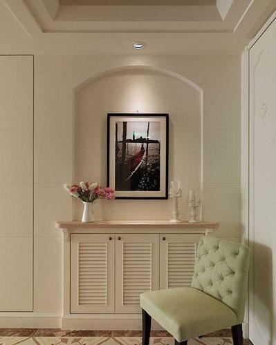 优雅简美式风格玄关鞋柜设计