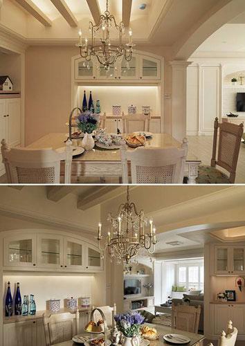 美式风格三居室130平米装修效果图