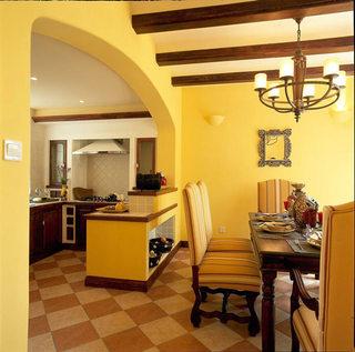 典雅地中海风情 餐厨房隔断图片