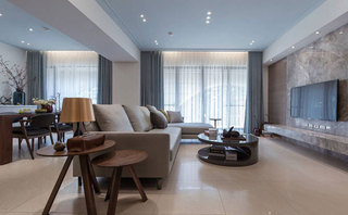 90平现代简约风格客厅装修