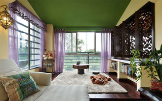 45平米东南亚风格客厅阳台图片