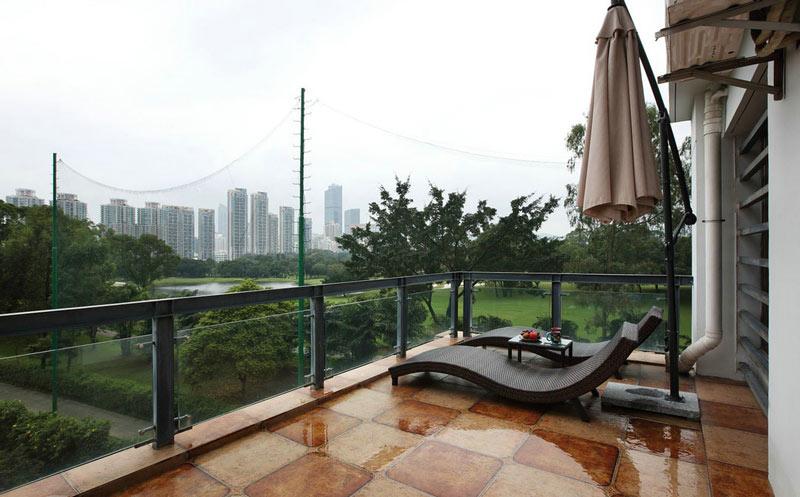 45平米东南亚风格露台装修设计图