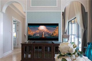 230平复式客厅电视背景墙图片