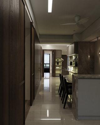 简约一居室小户型餐厅过道装修效果图