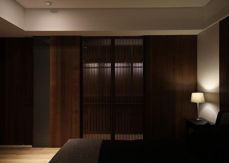 简约一居室小户型卧室镂空隔断屏风装修设计