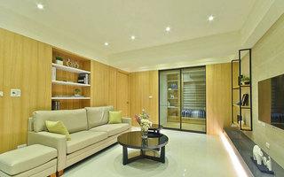 现代简日式客厅装修效果图